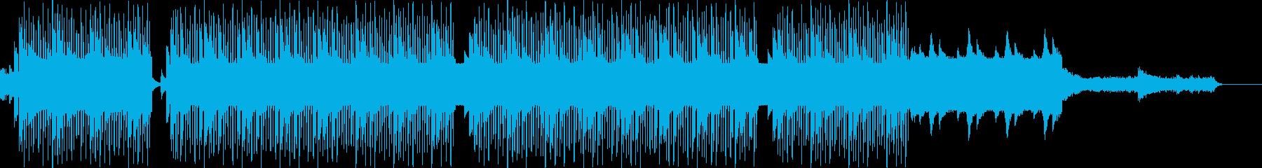 落ち着いたテンションの曲の再生済みの波形