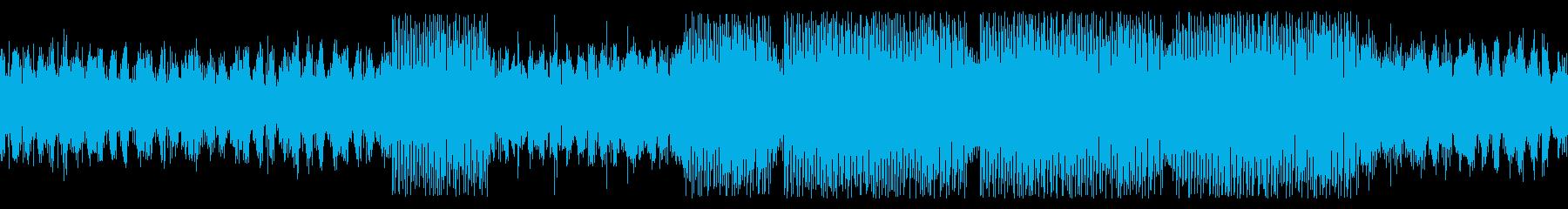 ループ仕様・中東風の緊張感あるBGMの再生済みの波形