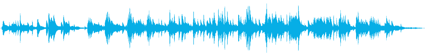 オリエンタル/優雅/ピアノ生演奏の再生済みの波形