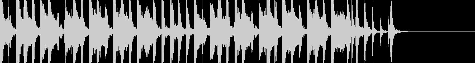 コミカルな15秒BGMの未再生の波形