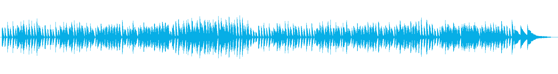 かわいくてほのぼのしたピアノソロBGMの再生済みの波形