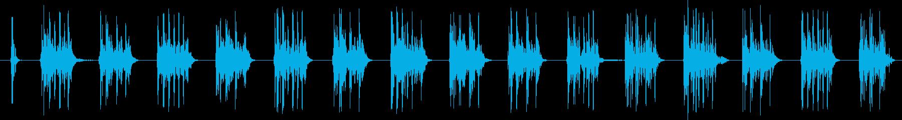SCI FI マシンガン01の再生済みの波形