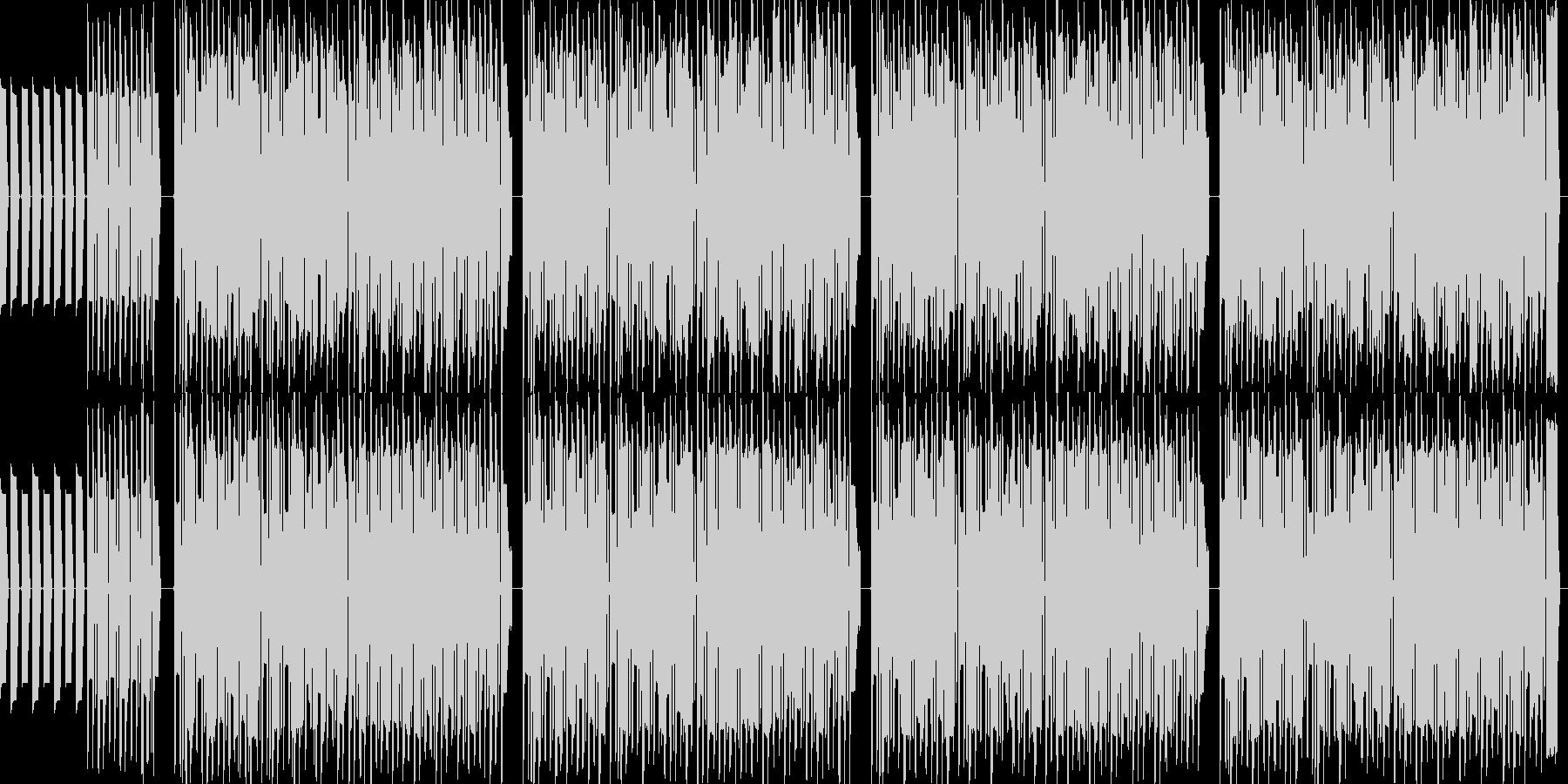 なんとなく流れてきそうなポップチューンの未再生の波形