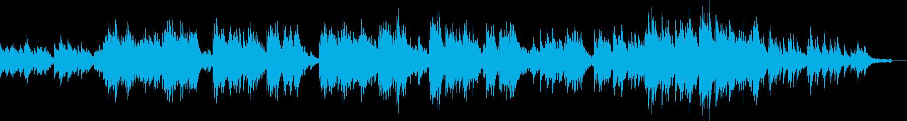 エレピとチェレスタの優しい雰囲気の曲の再生済みの波形