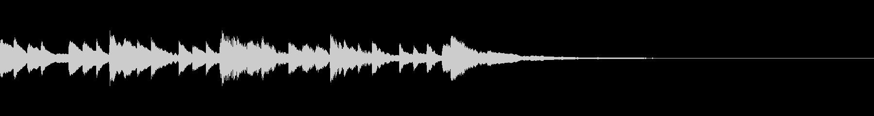 【ジングル】ピアノ/エンディング/CMの未再生の波形