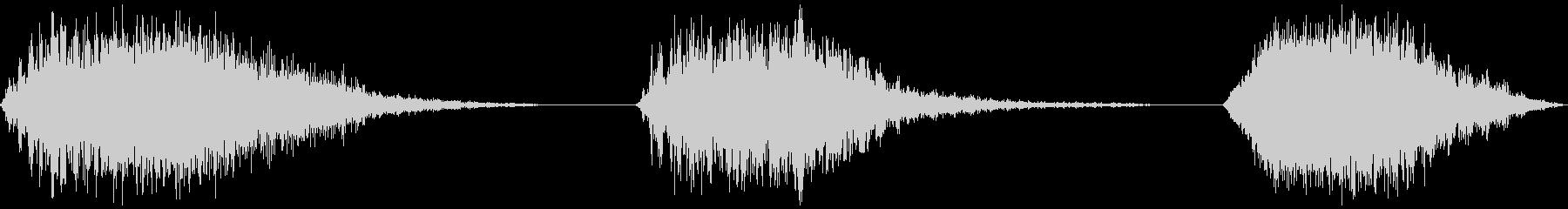 スペースパス、3バージョン、高、低...の未再生の波形