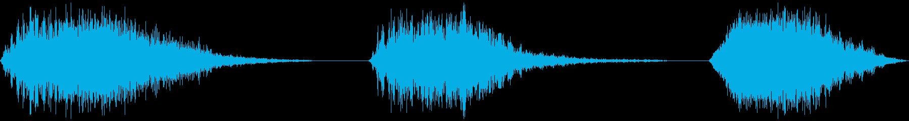 スペースパス、3バージョン、高、低...の再生済みの波形