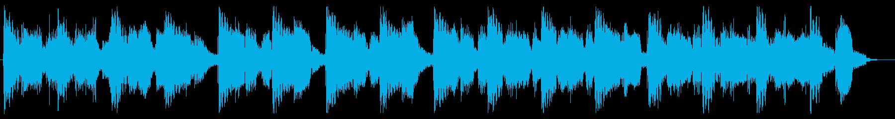 育成ゲーム向けの素朴なジングルの再生済みの波形