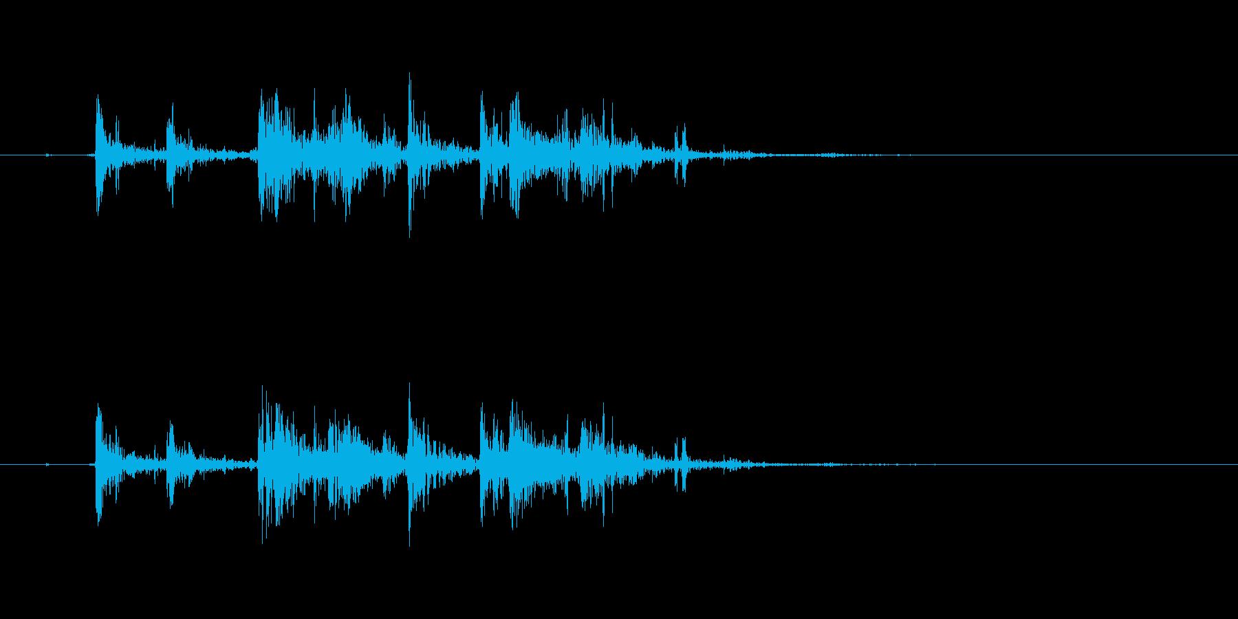 バキバキバキッ(大きな亀裂、低め)の再生済みの波形