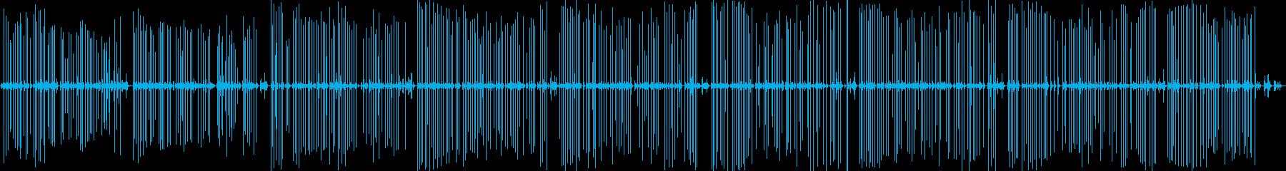小さなビンテージポータブルレミント...の再生済みの波形