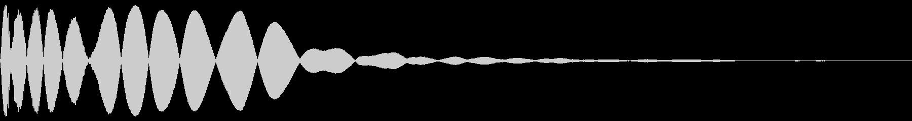 ヒットヒットインパクト12の未再生の波形