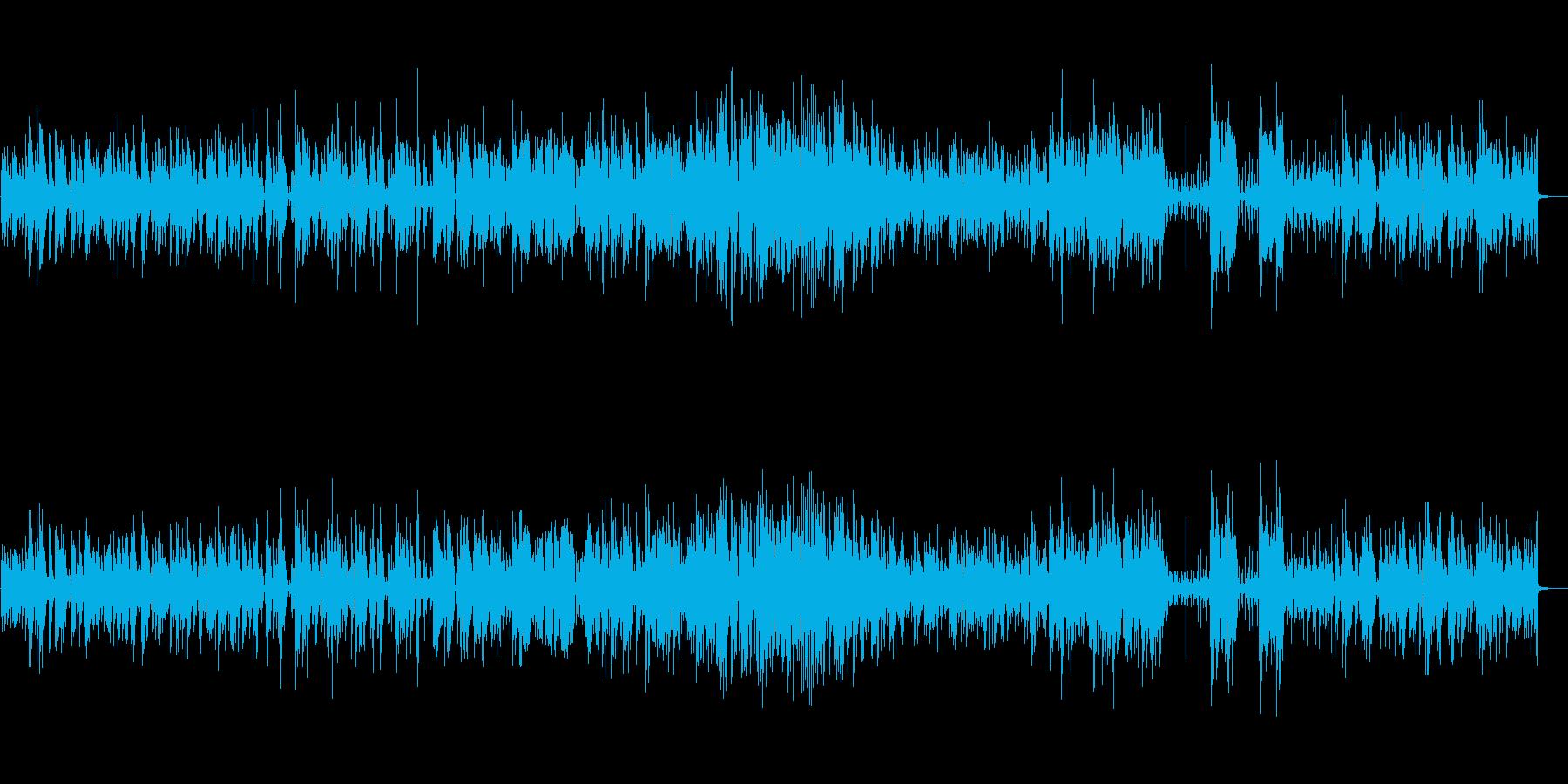 スタンダードジャズのピアノトリオの再生済みの波形