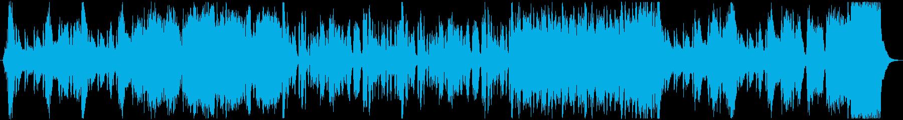 ファンファーレが印象的なオーケストラの再生済みの波形