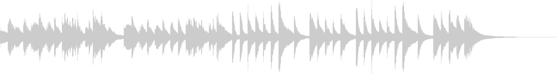 ほのぼのしたマリンバの未再生の波形