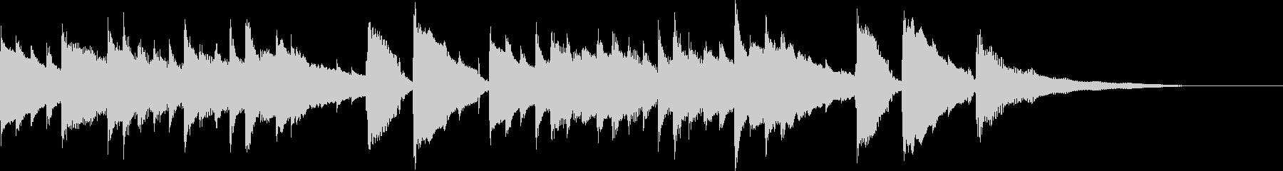 CM30秒、感動的なアコギとグロッケンの未再生の波形