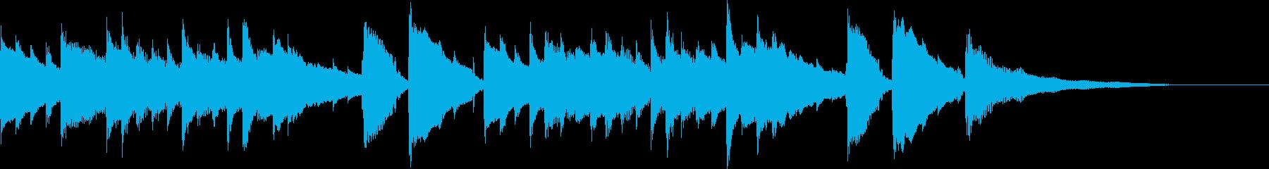 CM30秒、感動的なアコギとグロッケンの再生済みの波形