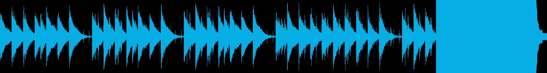 切ないシンセサイザーサウンドの再生済みの波形