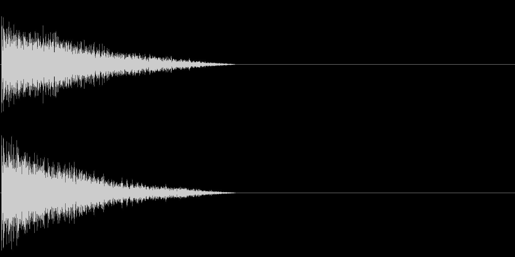 ビーーン! 金属的な響きの未再生の波形