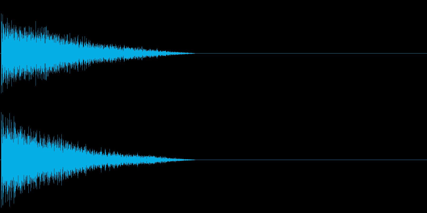 ビーーン! 金属的な響きの再生済みの波形