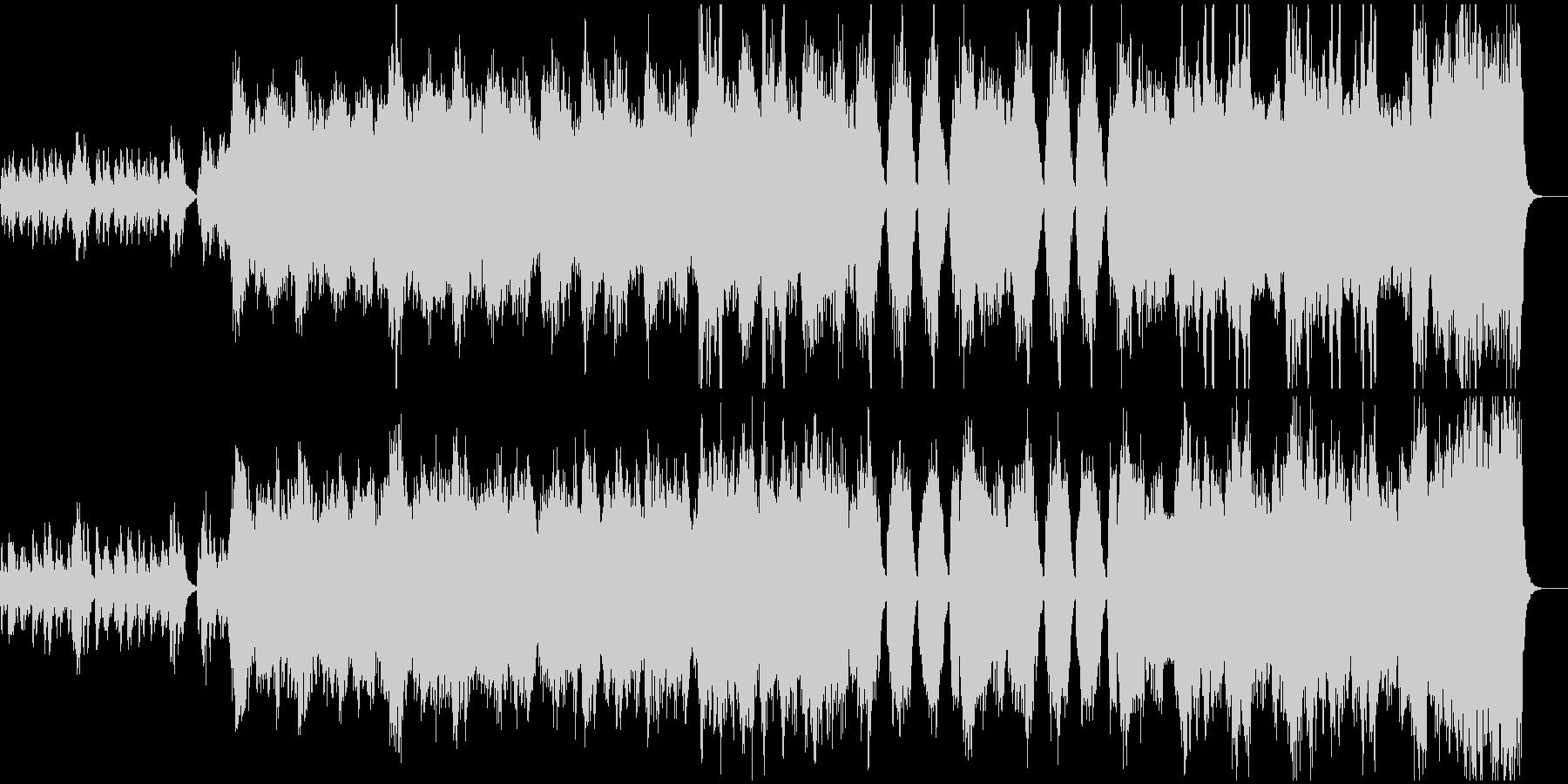 管弦楽によるアジアンテイストなBGMの未再生の波形
