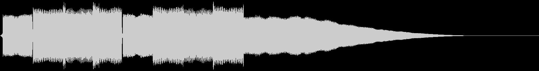 サイレンのようなゲーム風の電子音の未再生の波形