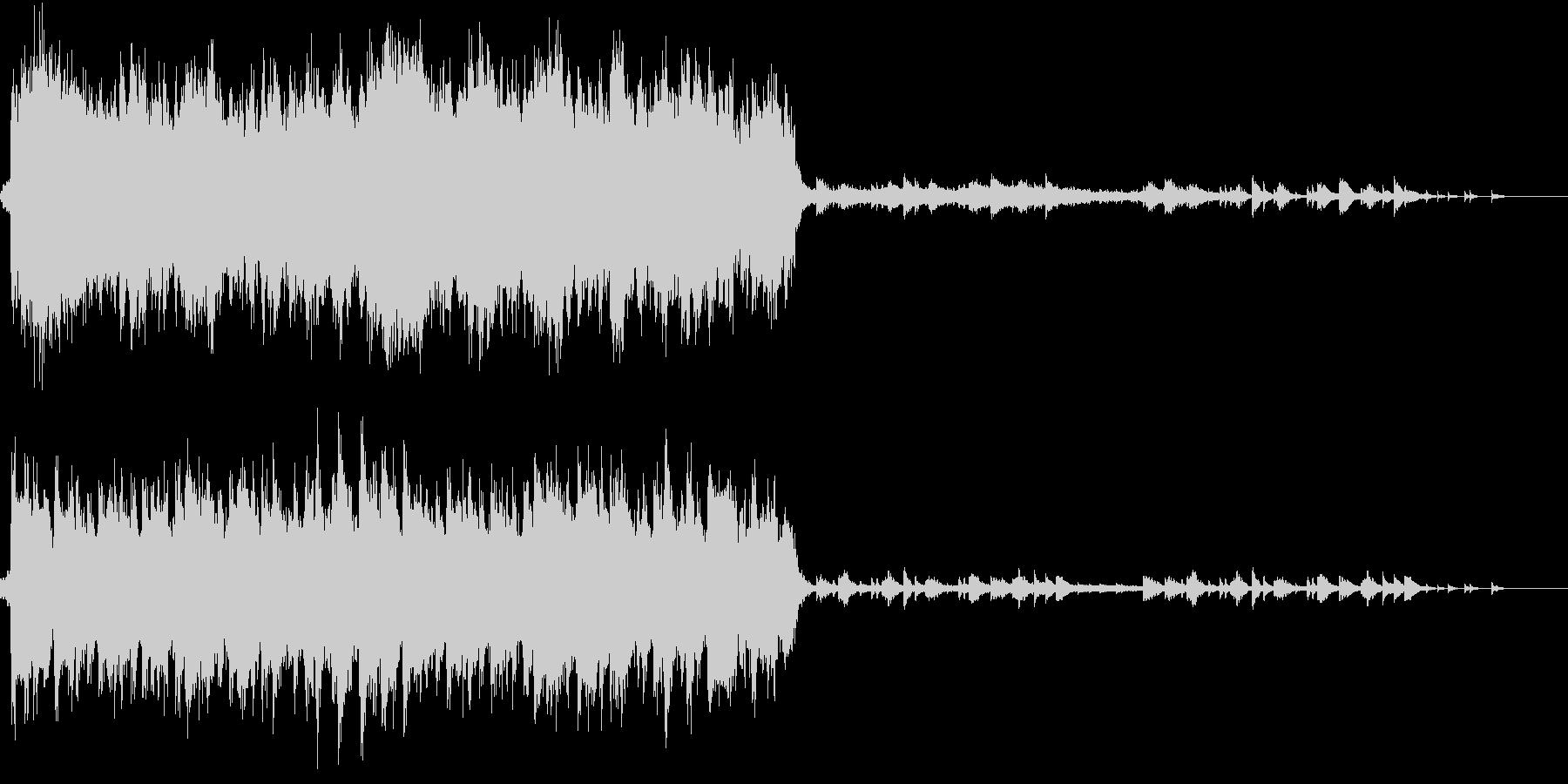 感動的な雰囲気のオーケストラBGMの未再生の波形