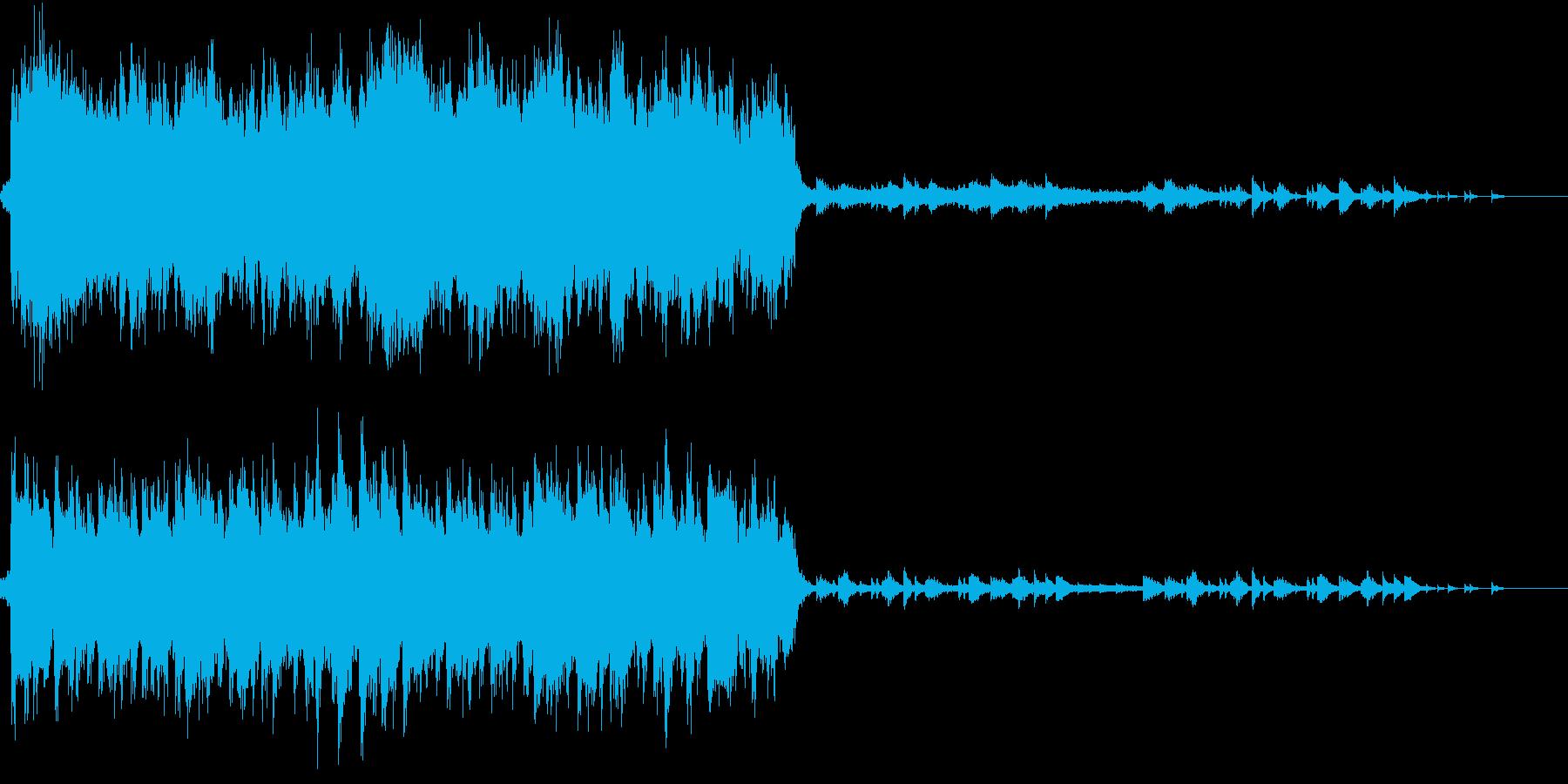 感動的な雰囲気のオーケストラBGMの再生済みの波形
