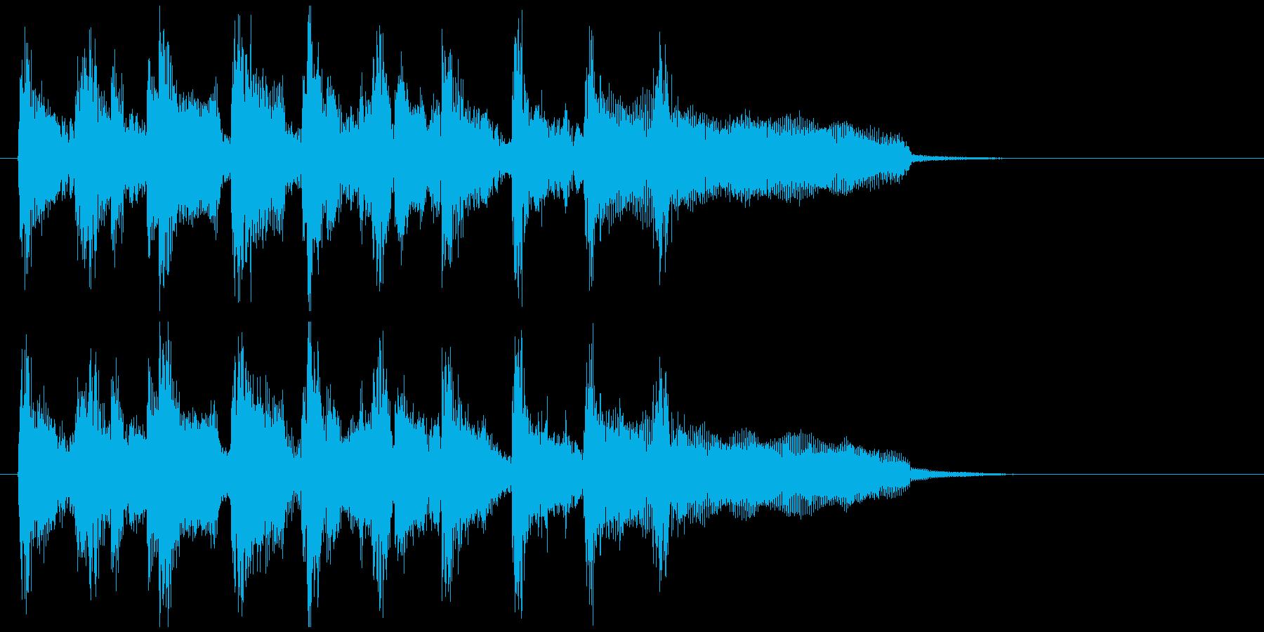 サンバ系フュージョン、サックスのジングルの再生済みの波形