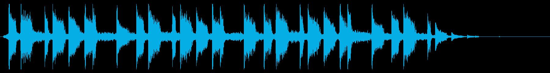 優雅なバイオリンとアコギの30秒の再生済みの波形