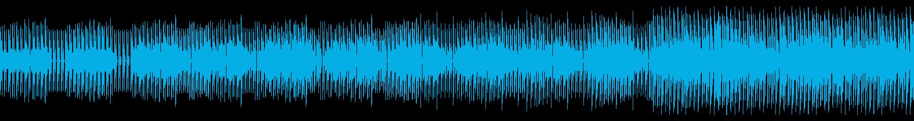 ダークで疾走感のあるテクノBGMの再生済みの波形