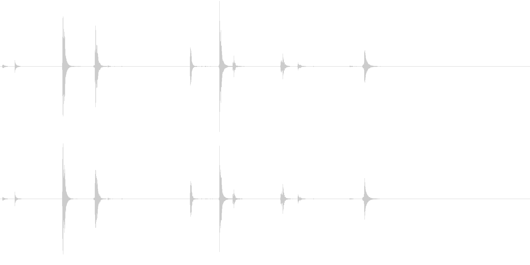 【生録音】手錠の音 4 小さく動くの未再生の波形