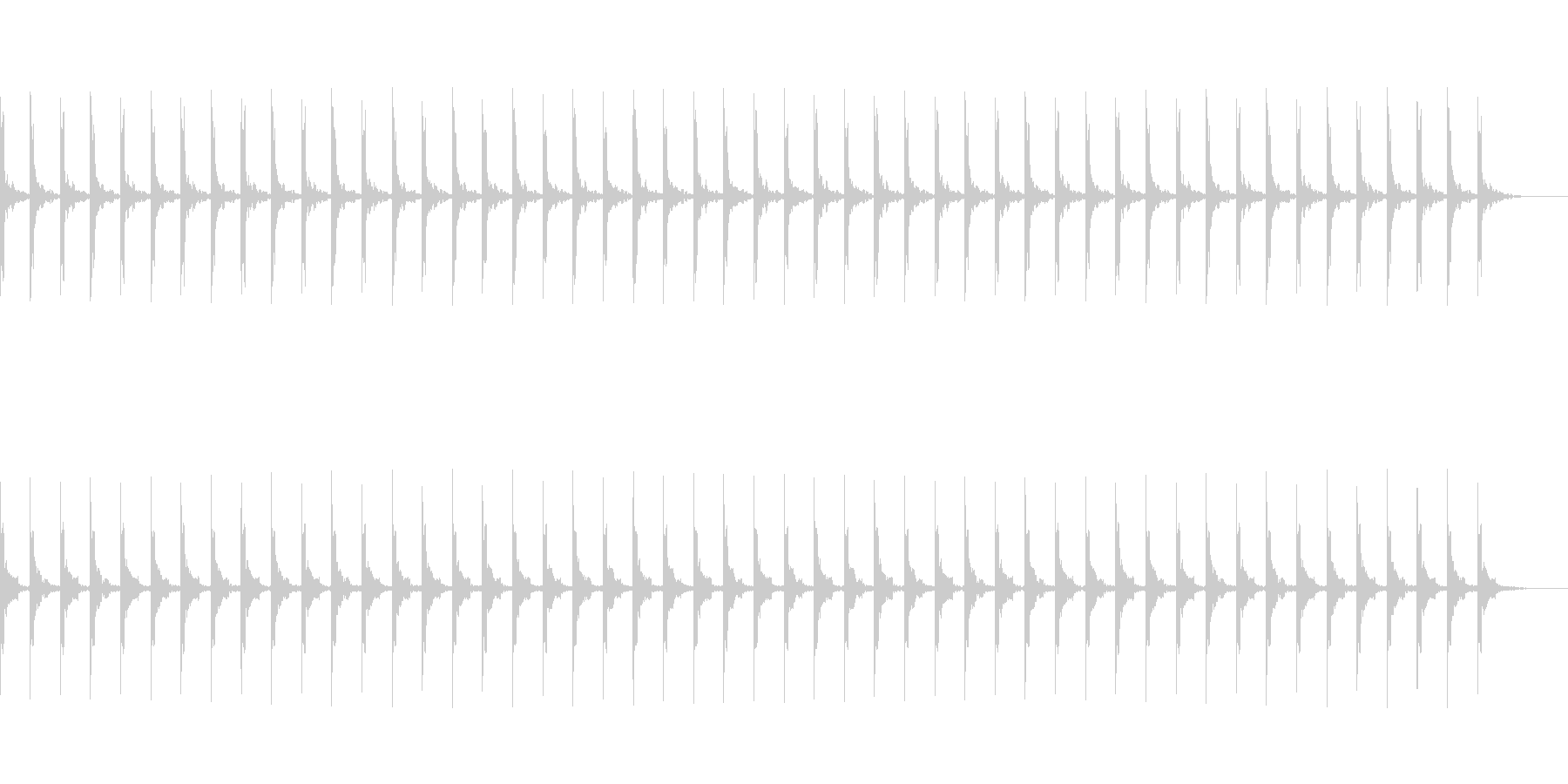 カウント50秒シンプル ピッピ の未再生の波形