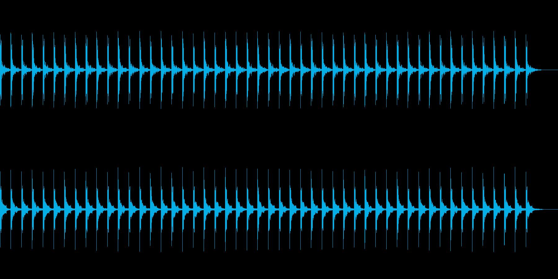 カウント50秒シンプル ピッピ の再生済みの波形