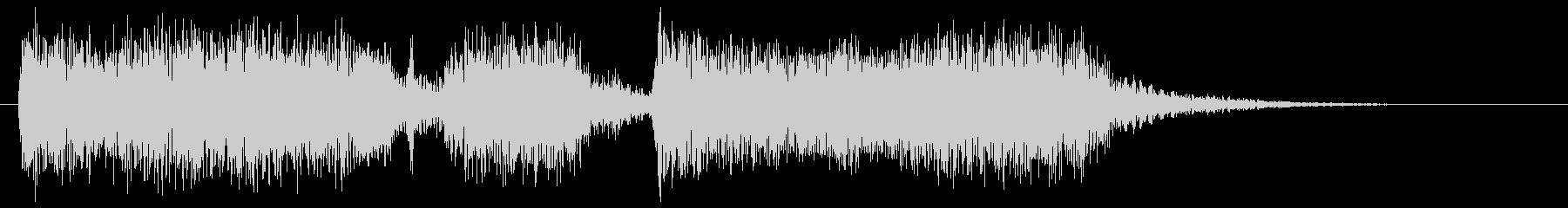 メタルギターフレーズ クラシカルなシメの未再生の波形