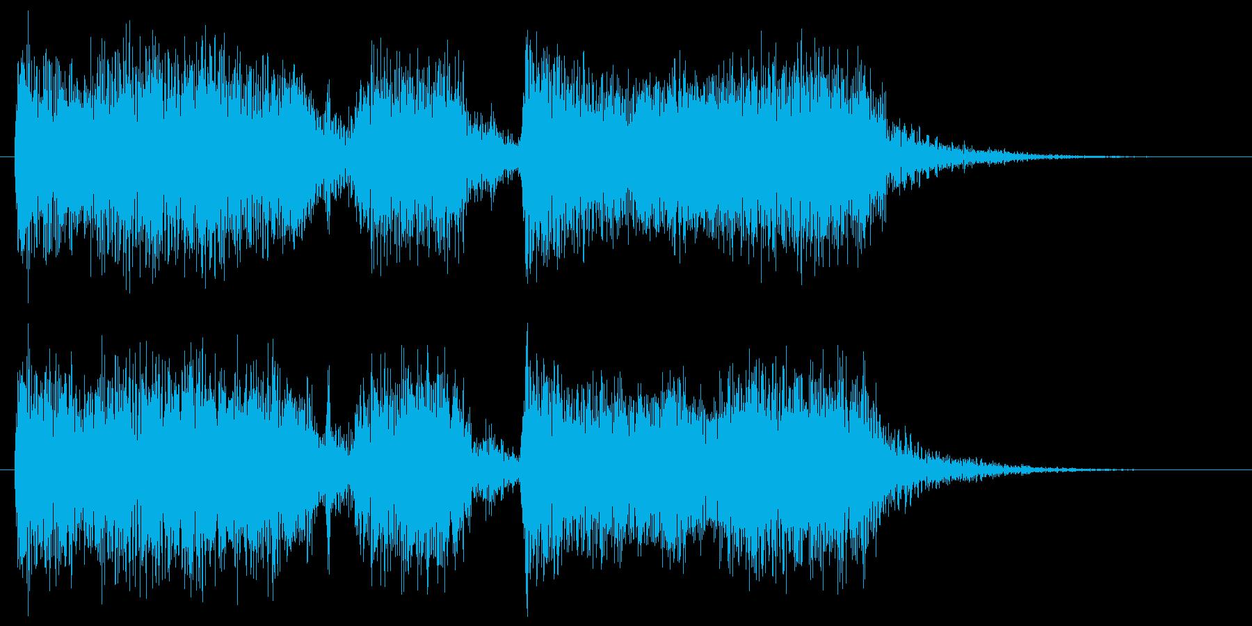 メタルギターフレーズ クラシカルなシメの再生済みの波形