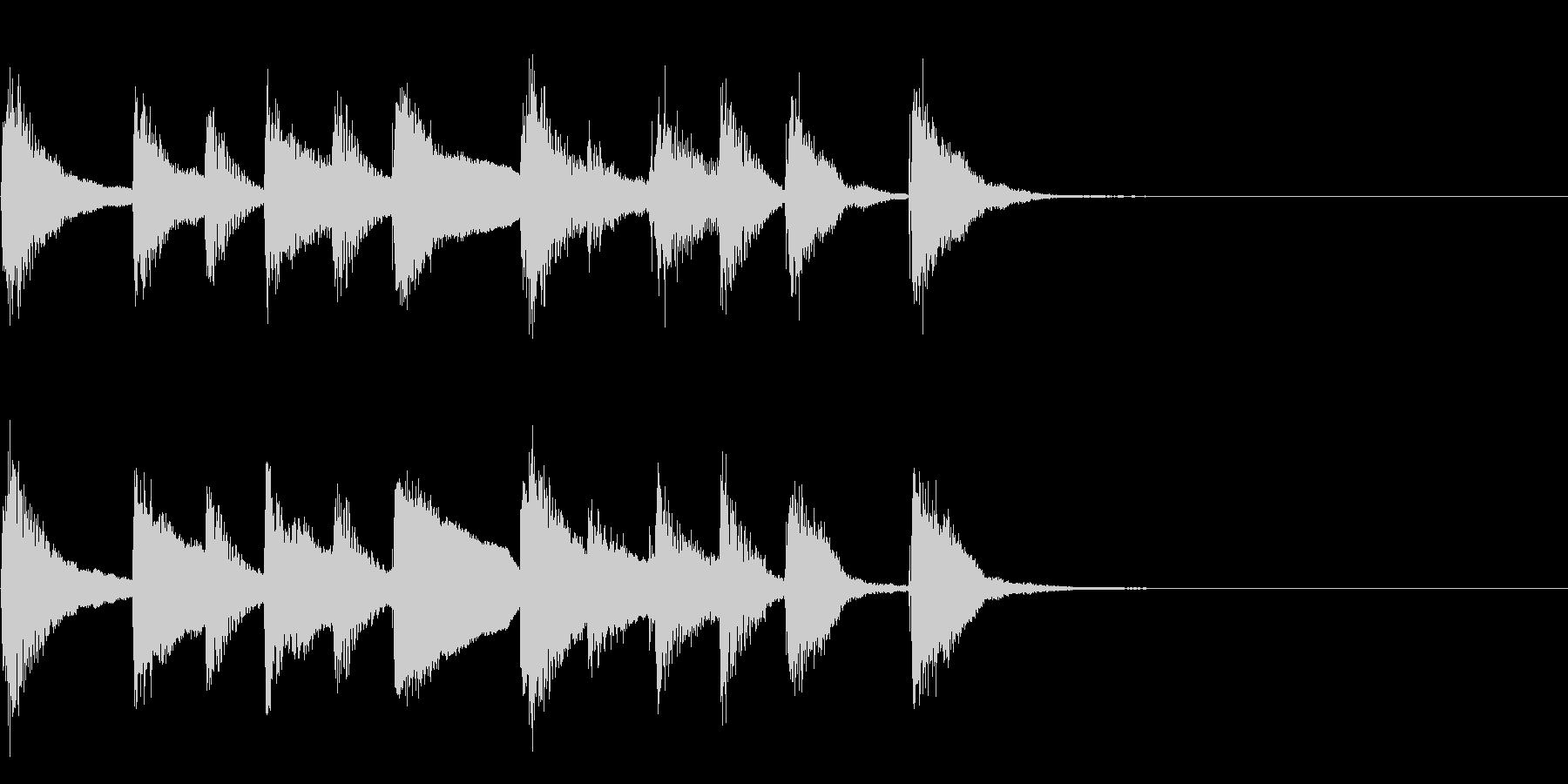 かわいいピアノのシンプルなジングルの未再生の波形