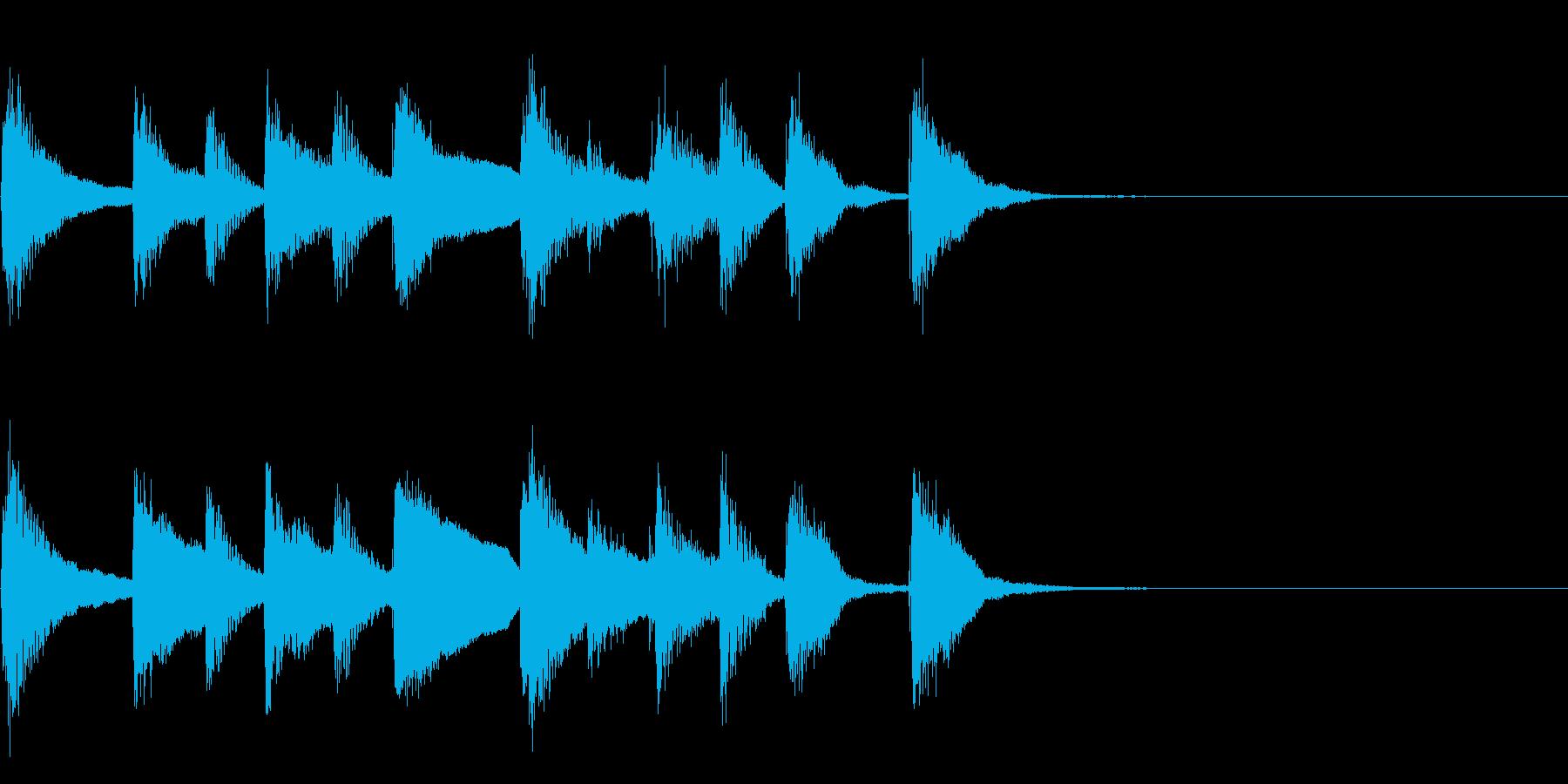 かわいいピアノのシンプルなジングルの再生済みの波形