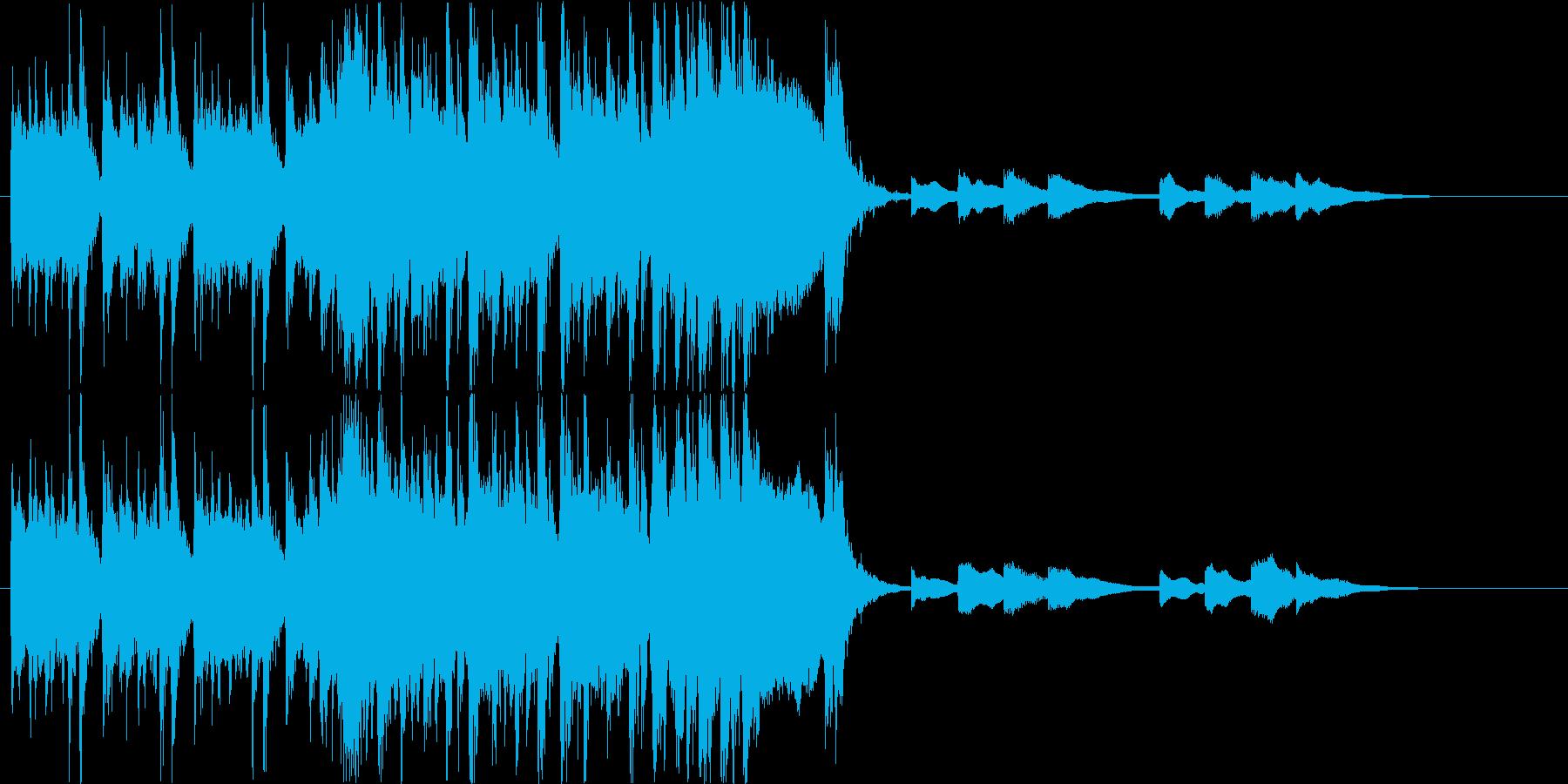 ちょっと重い時間切れのBGMの再生済みの波形