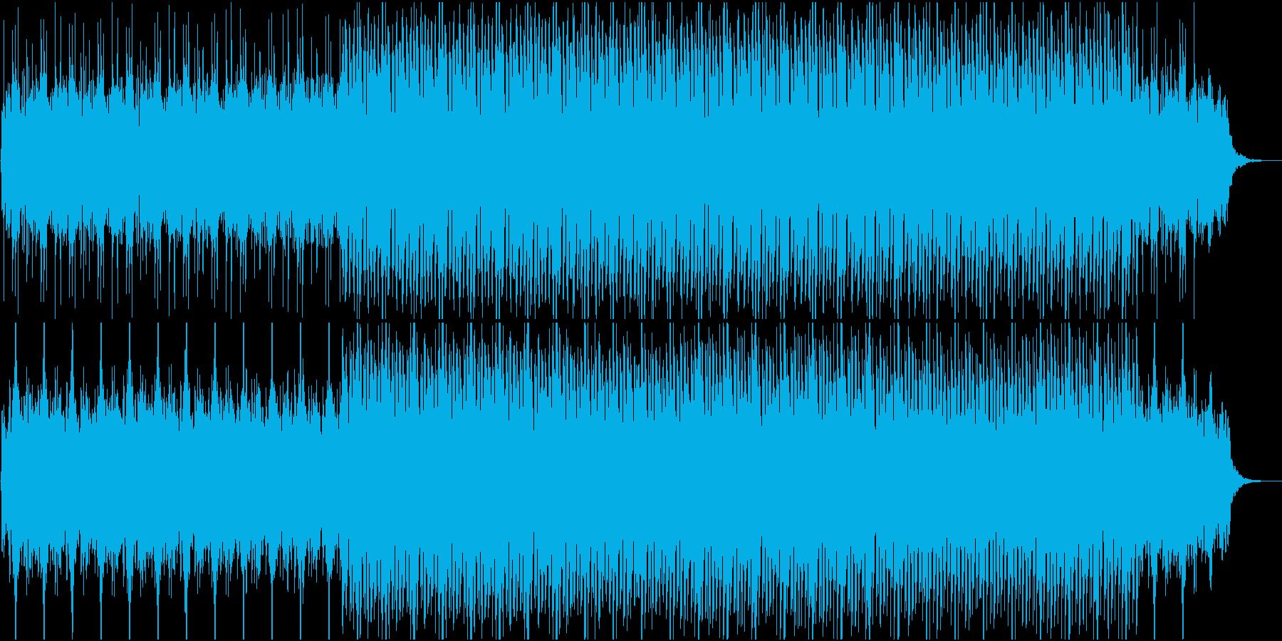 チルアウト系アンビエントBGMの再生済みの波形