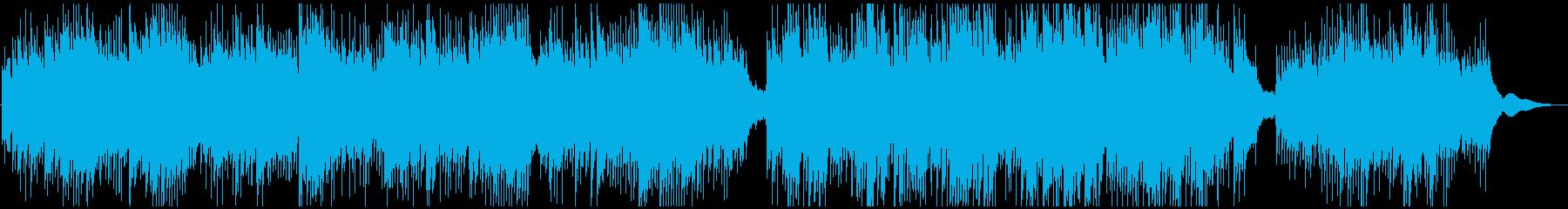 ドローン映像系の浮揚感ピアノアンビエントの再生済みの波形