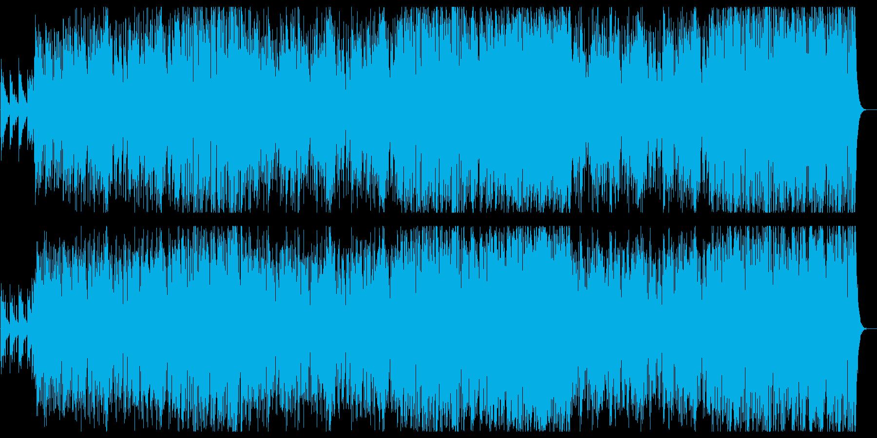 お洒落で心癒されるメロディーの再生済みの波形