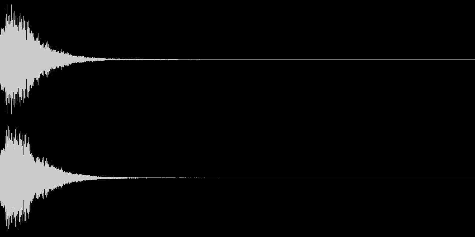 アナウンス 案内 実験 チャイム 03の未再生の波形