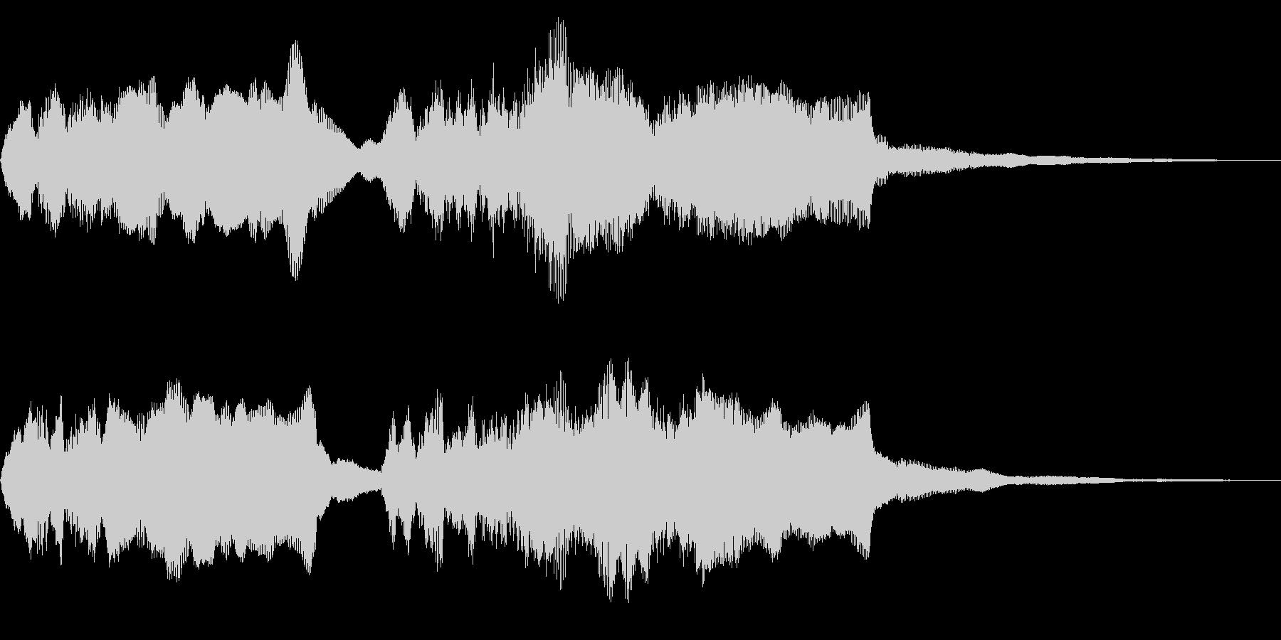チャラリー オルガンとブラス トッカータの未再生の波形