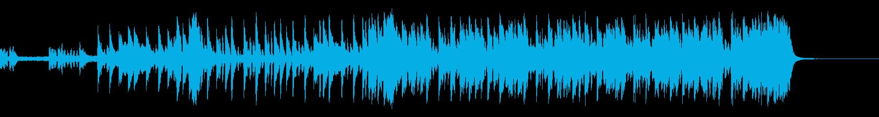 クールな代替ロックテーマの再生済みの波形