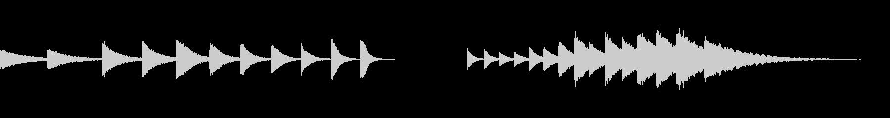 スペースチャイム、上下スケール、電...の未再生の波形