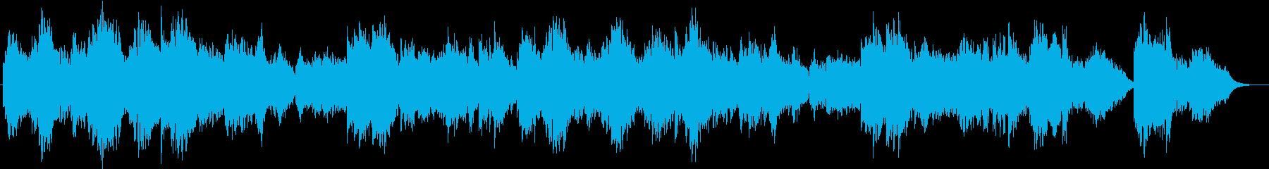 穏やかな内向的の雰囲気 ピアノのバラードの再生済みの波形