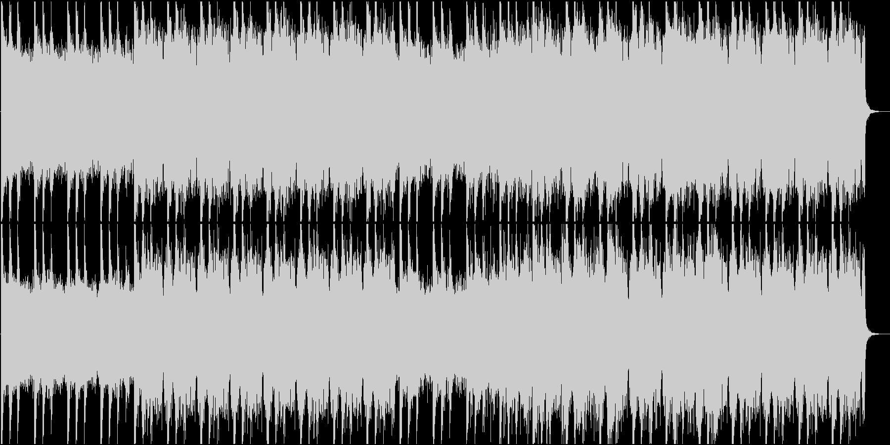 チルアウトなエレクトロニックBGMの未再生の波形