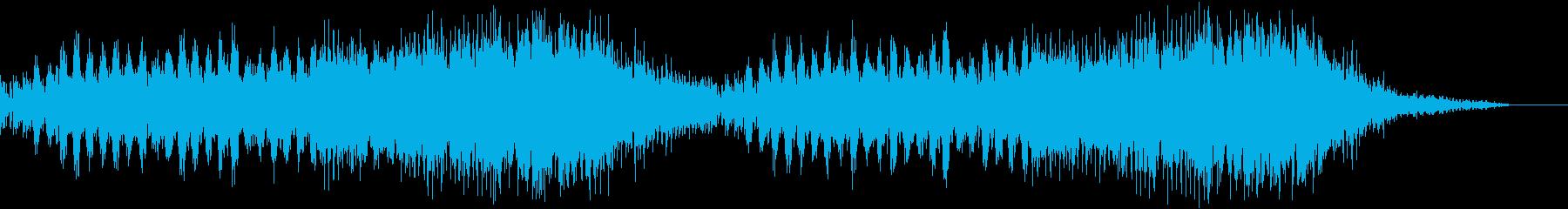雨をイメージした幻想的な曲の再生済みの波形