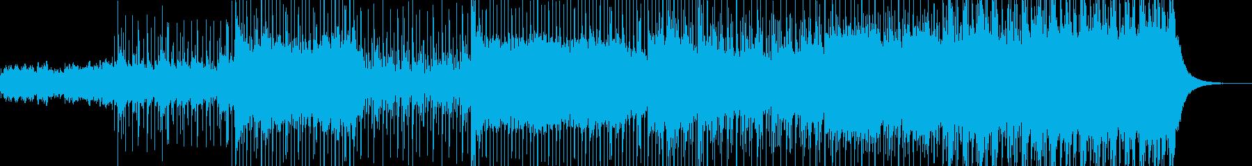 軽快な和風BGMの再生済みの波形