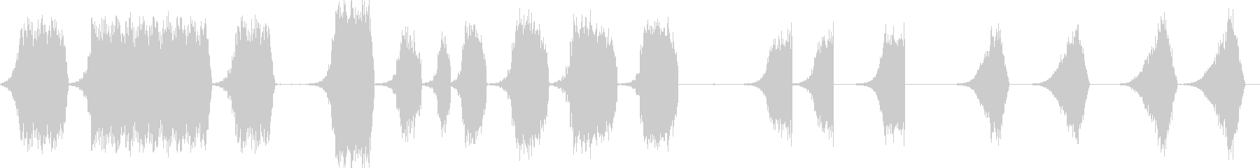 シンセの後方上昇の未再生の波形